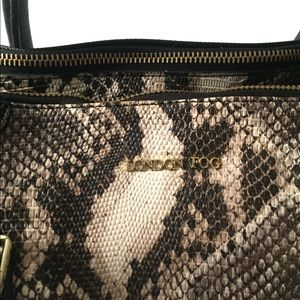 London Fog Bags - London Fog Snakeskin Satchel Purse